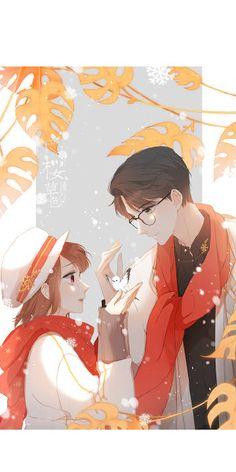 Love Like Cherry Blossom , Anime Cupples, Kawaii Anime, Anime Guys, Romantic Anime Couples, Romantic Manga, Love Cartoon Couple, Anime Love Couple, Anime Couples Drawings, Anime Couples Manga