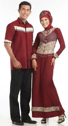 Batik Gamis Sarimbit Marun, Mau??  http://gamisbatik.com/long-dress-batik-gamis-sarimbit-marun.html