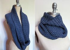hill and dale: free knit cowl pattern