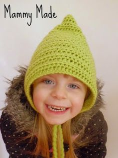 Crochet Hat - Pattern....Perfect little hat for the grandkids to have on hand for those windy days...(Mommy's or Daddy's weren't planning on)