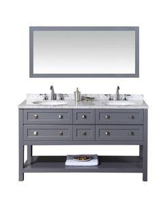 Marla 60-inch Double Sink Bathroom Vanity with Mirror – Still Waters Bath