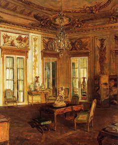 """Walter Gay (American, 1856-1937)  """"Salon des Aigles, Hotel Crillon"""""""