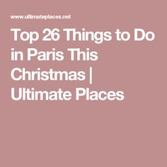 If you are planning to spend your Christmas vacations in Paris than there are a myriad of places to visit and things to do in Paris. Christmas In Paris, Christmas Vacation, Paris December, City Lights, Paris France, Things To Do, Vacations, Places, Top