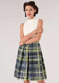 eef91156a396c Lime Floral Skater Belted Dress | Clothing in 2019 | Belted dress, Dresses,  Summer dresses