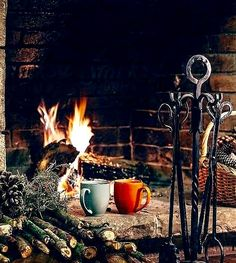 My happy place: Warm mugs if hot chocolate sitting down and listening to the sound of a crackling fire.