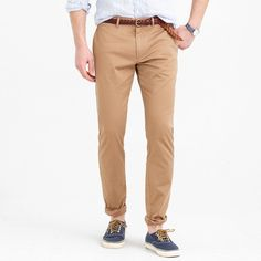 Stretch chino in 484 fit; slimmest but not skinny | Jcrew $75