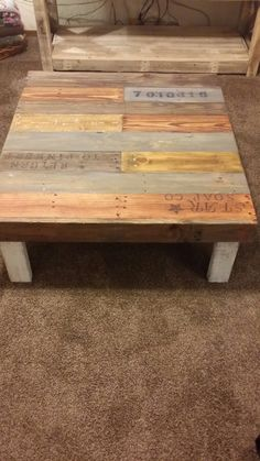 Reclaimed pallet wood coffe table. by AveryStDesignCo on Etsy
