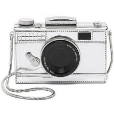 Kate Spade New York Camera Cross Body Bag found on Polyvore featuring bags, handbags, clutches, purses, silver, kate spade crossbody, white crossbody handbags, leather handbags, leather cross body purse and leather crossbody handbags