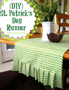 {DIY} St. Patrick's day runner - My House and Home