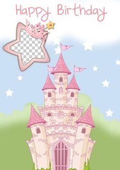 Fairy Princess on Craftsuprint designed by Marie Wolman - This is a cute birthday card which any little girl would be happy to receive.You can add your photo plus text to this card. - Now available for download!