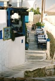 Tavern in Chora town, Anafi island, Cyclades, Greece Santorini, Greece, In This Moment, Island, Landscapes, Image, Google Search, Greece Country, Paisajes
