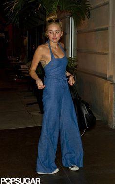 LOVE LOVE!! & WANT this jumpsuit. Miley Cyrus Wearing a Denim Jumpsuit