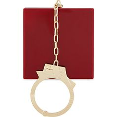CHARLOTTE OLYMPIA Kinky handcuff clutch (Crimson, also comes in black).  omg i need this!