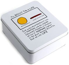 Biscuit tin - Edward Monkton The Biscuit Tin of Life: Amazon.co.uk: Kitchen & Home  Anyone who knows where I might be able to get this tin, do let me know. I love Edward Monkton - it's so quirky and fun!