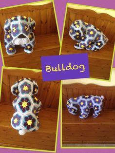 Heidi Bears African Flower Bulldog Www.facebook.com/Hookedonhandicrafts