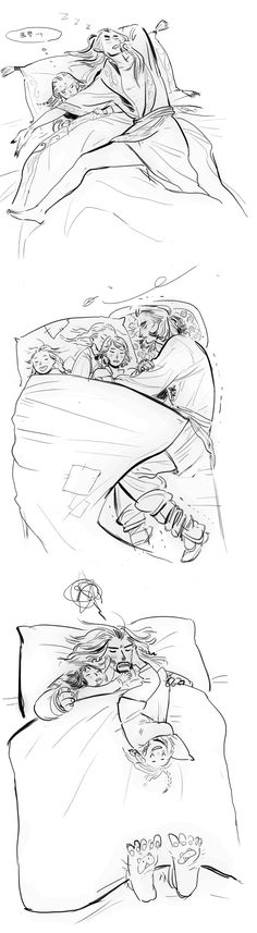 dads'(and uncle's) sleeping posture :D  http://wavesheep.tumblr.com/post/100241952056/dads-and-uncles-sleeping-postures-d
