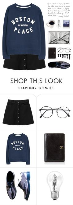 """""""Worry less, smile more. Don't regret, just learn and grow"""" by taxicabs ❤ liked on Polyvore featuring Monki, MANGO, Chanel, Dr. Martens, Quiksilver, Osram, Polaroid, Pixie and 333"""
