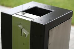 Stainless steel dog waste bin - classy in every detail...