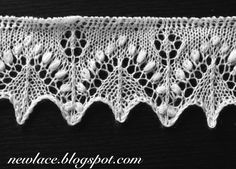 Edge lace Silvian from this blog about re-invention of knitted Estonian lace. Free patterns.