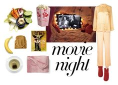 """Movie Night // A Countess from Hong Kong"" by dearflynn ❤ liked on Polyvore featuring Asceno and UGG"
