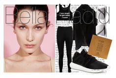 """""""Look Of The Day 13/02: Bella Hadid"""" by byanka-yasmim ❤ liked on Polyvore featuring Boohoo, Marciano, adidas, Prism and Dogeared"""