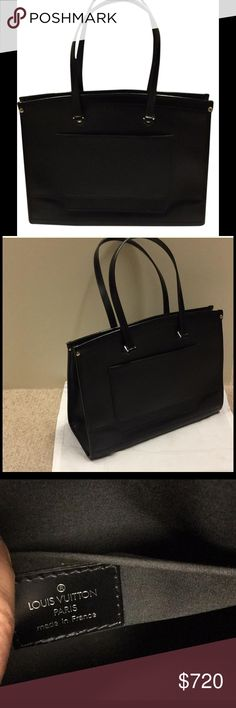 Louis Vuitton Epi Leather Black Madeline Bag Louis Vuitton Black Epi Madeleine GM bag. Gold tone hardware. Single pocket outside. Two pockets inside. Zip closure at top. Serial code MI2087. Light wear. Louis Vuitton Bags Totes