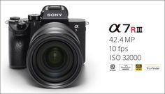 Sony a7R III comes with 4K video support, wide dynamic range and high sensitivity features with noise reduction.