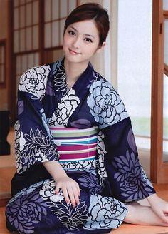 """thekimonogallery: """" Nozomi Sasaki in kimono. Japan """""""