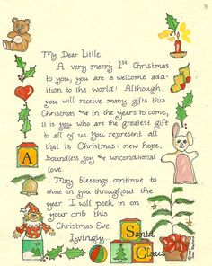 Letter from Santa for First Christmas