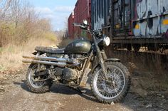 """Reader Ride. A Triumph Scrambler In It's """"Native"""" Environment   Motorcycle Photo Of The Day"""