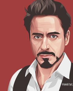 Pin on Man - Vector art Portrait Illustration Portraits Illustrés, L'art Du Portrait, Portrait Cartoon, Vector Portrait, Digital Portrait, Art And Illustration, Portrait Illustration, Illustrations, Iron Man Kunst