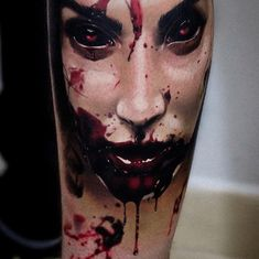 Evil clown tattoos reflect the darker side of human nature. Evil Clown tattoos that you can filter by style, body part and size, and order by date or score. Evil Tattoos, Creepy Tattoos, Skull Tattoos, Body Art Tattoos, Sleeve Tattoos, Horror Tattoos, Neck Tattoos, Clown Tattoo, Catrina Tattoo