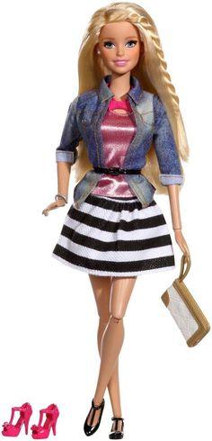 Barbie Deluxe-Moden Fashionista Barbie mit Denim Jacke Mattel -NEU- | eBay