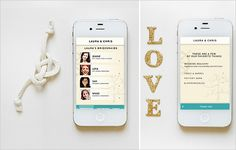 Wedding websites are so yesterday. Design your own wedding app for your guests to access all the deets via their iPhone, iPad or iPod touch!  via Appy Couple