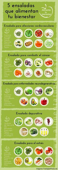 Infografía Ensaladas que alimentan tu salud y bienestar