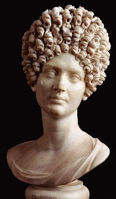 Portrait bust of a Flavian woman. Marble. Ca. 90 CE. Rome, Capitoline Museums, Palazzo Nuovo, Hall of the Emperors.