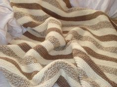 Chocolate Vanilla Swirl Baby Blanket. by jamieknits. Free pattern. Cast on, knit stich. bind off. That's it!