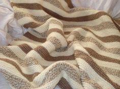 Chocolate Vanilla Swirl Baby Blanket. by jamieknits. Free pattern. Cast on, knit stich. bind off. That's it!