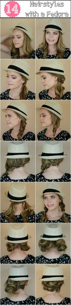 14 Ways to Wear a Fedora (with a bonus 15th!) from our friend @Melissa Cook (My Soul is the Sky) with My Soul Is The Sky. LOVE this!