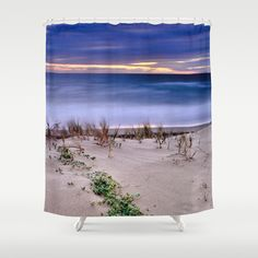 Windy. Blue sea Shower Curtain by Guido Montañés - $68.00