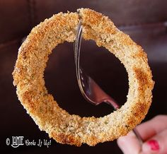 Healthy Oven Baked Onion Rings by jamiecooksitup #Onion_Rings #jamiecooksitup