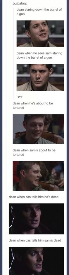 Don't cross Dean when it comes to Sam!