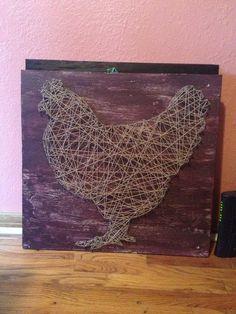 String and Nail Hen by HeartsOnAStringLLC on Etsy, $50.00