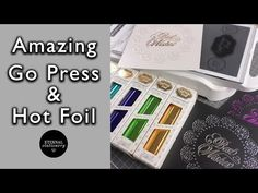 (1) GoPress and Foil tutorial   How to get perfect foiling using dies   DIY Invitations and cards - YouTube