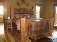 Rustic Alder and Barnwood Beds - Bitter Creek Woodworks