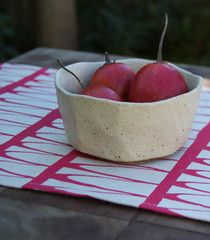 Tree Tops Table Runner in Berry