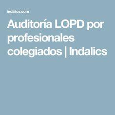 Auditoría LOPD por profesionales colegiados   Indalics