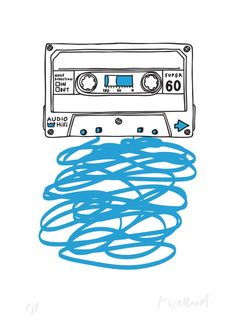'Cassette Tape' - Rose Stallard Amazing limited edition Poster.