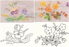 patrones para bordar flores-3. Embroidery Pattern. jwt