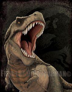 Тиран Король: Парк Юрского периода/мир т. Рекс обновление ПО FredtheDinosaurman на deviantart